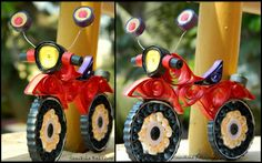 The name of artist is written at the bottom – 3D Quilled transport, military and more (Searched by Châu Khang)