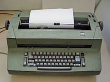 Mid 80's; IBM Selectric typewriter was the standard machine used for typing class.