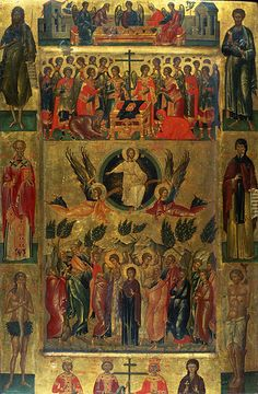 Andreas Ritzos - Ascension of Christ with the Hetoimasia
