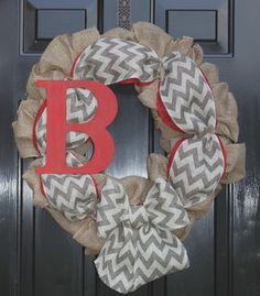 Burlap Wreath -  Wreaths - Summer Wreath for door - Summer Wreath - Home Decor -Gift idea