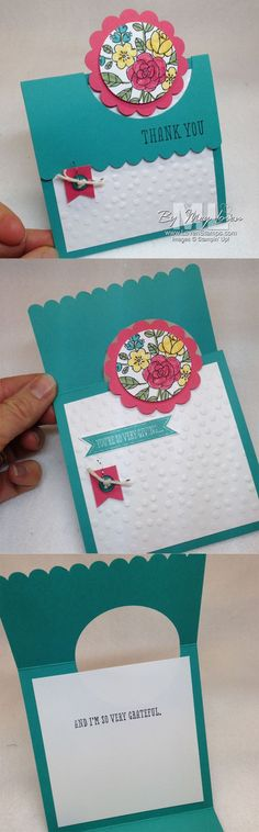 Peek a Boo Card - So Very Grateful stamp set by LovenStamps