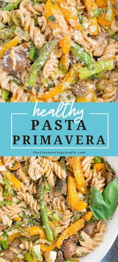 Healthy Pasta Primavera is an easy, delicious dinner! This classic Italian dish is packed with vegetables and is the perfect meal for an easy weeknight dinner! Looking to add meat to this dish, it would also be great with chicken or sausage! #pasta #healthy #dinner #recipe #vegetarian Healthy Vegetable Recipes, Healthy Pasta Recipes, Healthy Pastas, Healthy Side Dishes, Healthy Meal Prep, Side Dish Recipes, Lunch Recipes, Free Recipes, Vegetarian Pasta Dishes