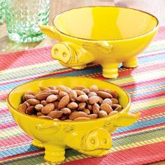 One of my favorite discoveries at WorldMarket.com: Yellow Pig Serving Bowls, Set of 2