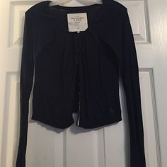 Abercrombie and Fitch cardigan Navy blue buttons along front Abercrombie & Fitch Sweaters Cardigans