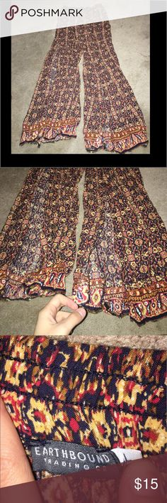 Palazzo pants Super cute! Size large they run kind of small especially if you have thick thighs haha! Worn twice. From earthbound Pants
