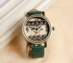 Little Flower Women Leather Watch on Etsy, $11.50 -  I'll take one is every color, thanks!