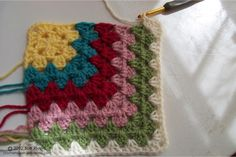 MiteredGrannyOtherCorner. Currently working on a blanket with this pattern.