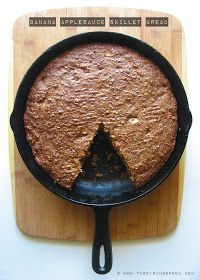 The Rising Spoon: Banana Applesauce Skillet Bread with Apple Chunks & Flaxseed