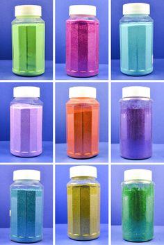 Website for bulk glitter bottles for DIY glitter crafts projects.