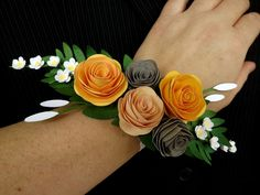 Diy paper flower corsages projects to make pinterest flower paper prom corsage by dt member heidi edwards the corsage is made entirely of paper mightylinksfo