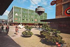 De Bijenkorf, gezien vanaf de Demer, ca 1975 - eindhoveninbeeld.com