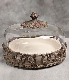 GG Collection 9 Round Covered Pie Plate #Dillards & Artimino Tuscan Countryside Footed Cake Plate #Dillards I would ba ...