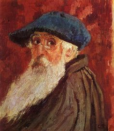 Monet - Self Portrait - Not the Monet face I associate with. Nevertheless a Monet it is. Camille Pissarro, Claude Monet, Renoir, Gustave Courbet, Monet Paintings, Art Japonais, Edgar Degas, Impressionist Paintings, Oil Painting Reproductions