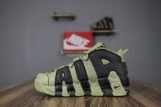 faf1d0c7c36d Top Quality Nike More Uptempo black Olive green men s women s running shoes  921948-007