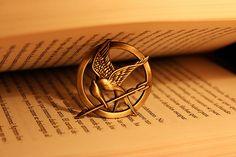 Mockingjay pin from Hunger Games.