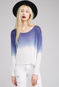 Ombré Side-Slit Sweater   FOREVER21 - 2002247264