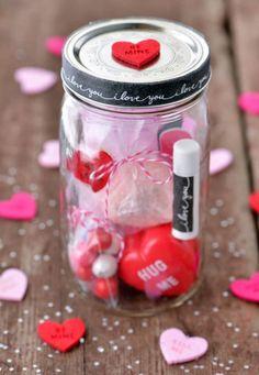 Funny Valentine, Valentine Gifts For Girlfriend, Valentines Day Gifts For Her, Diy Gifts For Boyfriend, Valentines Diy, Valentines Jewelry, Mason Jar Gifts, Mason Jars, Diy St Valentin