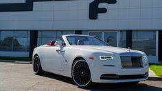 White Rolls Royce Dawn on Black Forgiatos !