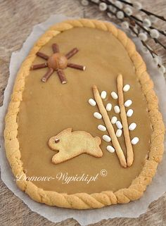 My Favorite Food, Favorite Recipes, My Favorite Things, Easter In Poland, Easter Recipes, Dessert Recipes, Apple Pie Bars, Polish Recipes, Gingerbread Cookies