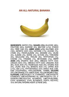 Ingredients of an All-Natural Banana
