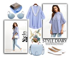 """""""Shein"""" by loveliest-back ❤ liked on Polyvore featuring Ray-Ban, First People First, rag & bone and Chloé"""