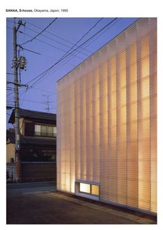 Architectural lighting design · minimalist facade like japanese know to design. s house / sanaa space architecture, minimalist Japanese Architecture, Facade Architecture, Contemporary Architecture, Contemporary Building, Contemporary Landscape, Contemporary Cottage, Contemporary Doors, Contemporary Apartment, Contemporary Wallpaper