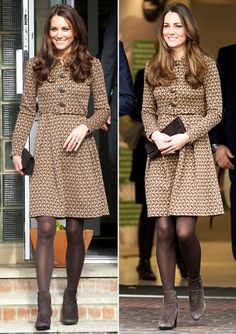 It turns out, rewearing outfits is a do for the royals. See here the most stylish outfits that Kate Middleton has repeated and be inspired to go shopping in your own closet, just like a Duchess would. Kate Middleton Outfits, Kate Middleton Stil, Kate Middleton Fashion, Orla Kiely, Princesa Kate, Duchesse Kate, Kate And Pippa, Pantyhosed Legs, Stylish Outfits