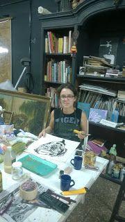 Graciela BOVETTI: Pintura en Pinzon