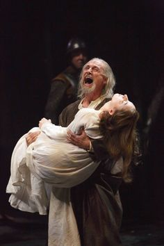 Colm Feore as King Lear and Sara Farb as Cordelia in King Lear. Stratford, Ontario. Photo by David Hou.