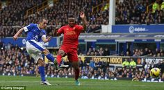 28 October 2012  Jones can only flap at a corner from Leighton Baines  and the ball drops for Leon Osman to hammer home a low drive into the Liverpool net