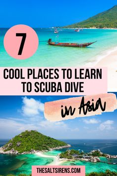 7 Cool Places to Get Scuba Certified in Southeast Asia - The Salt Sirens Learn To Scuba Dive, Sirens, Scuba Diving, Southeast Asia, The Good Place, Places To Go, Surfing, Ocean, Explore