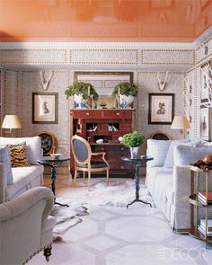 Gloss tangerine ceiling, floors