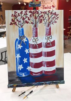 Rustic Pride is one of thousands of paintings we have on any given night at Painting with a Twist. Reserve your seat for this class today! Cute Canvas Paintings, Easy Paintings, Acrylic Painting Canvas, Flag Painting, Diy Painting, Painting & Drawing, Diy Canvas, Canvas Art, Canvas Ideas