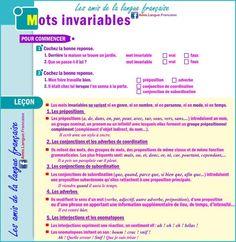 mots invariables