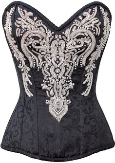 Looking for Black Brocade Silver Sequins Waist Cincher Bustier Plus Size Overbust Corset Top ? Check out our picks for the Black Brocade Silver Sequins Waist Cincher Bustier Plus Size Overbust Corset Top from the popular stores - all in one. Steampunk Fashion, Gothic Fashion, Gothic Steampunk, Steampunk Clothing, Victorian Gothic, Emo Fashion, Gothic Lolita, Steampunk Lingerie, Fashion Dresses