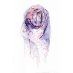 Fular pañuelo Moschino de seda lila www.sanci.es