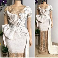 Lace Dress Styles, African Lace Dresses, African Wedding Dress, African Fashion Ankara, African Print Fashion, Cheap Homecoming Dresses, Couture Details, Fashion Details, Hot Outfits