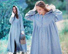 Hooded wool cloak in black maxi wool coat maxi wool cape Hooded Wool Coat, Hooded Cloak, Wool Poncho, Mode Abaya, Mode Hijab, Cashmere Cape, Wool Cape, Flattering Dresses, Princess Style