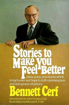 Random House books, 1972. Bennett Cerf, Make You Feel, How Are You Feeling, Random House, Good Jokes, Feel Better, Bring It On, Make It Yourself, Humor