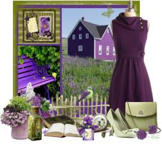 """""""Purple"""" by albaor ❤ liked on Polyvore"""