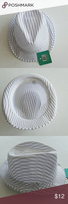 """Stripped Fedora Hat Brim, 1.5"""" circumference 24"""" unbranded Accessories Hats"""