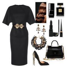 """Untitled #462"" by gorgeouslor on Polyvore featuring Martin Grant, Balmain, Cerasella Milano, Dolce&Gabbana, BaByliss, Yves Saint Laurent, Avon, Christian Louboutin, Chanel and Barry M"