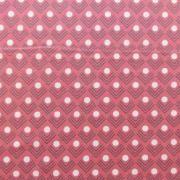 """Ellen Luckett Baker Framework Canvas - Corners (Coral) 15% Linen/85% Cotton, canvas, 44/45"""" wide"""