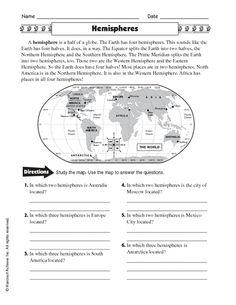 Image result for hemisphere worksheets 6th grade