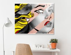 Discover «Roy Lichtenstein's Crying Girl & Grace Kelly», Exclusive Edition Acrylic Glass Print by Luigi Tarini - From $85 - Curioos