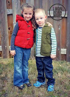 The Marek Puffy Vest (child sizes) by Sincerely Pam, pattern for purchase