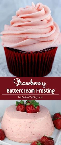 Homemade Strawberry Buttercream Frosting - never use store bought again. Teaming with fresh strawberries, this yummy Strawberry Frosting tastes amazing and is so easy to make. Especially good on angel food cake or chocolate cupcakes, it will make anything