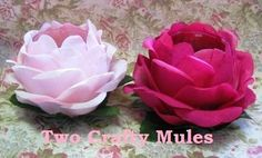 Two Crafty Mules: Shabby Chic Rose Votive Candle Holders Project