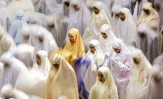 Muslim women in Jakarta praying Taraweeh