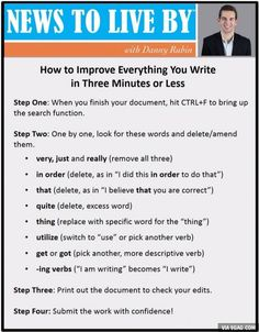 How to Improve Everything You Write in Under Three Minutes - Rubin Improve Writing Skills, Writing Advice, Writing Help, Essay Writing, Essay Tips, Improve Your English, English Help, Funny Sites, Interview Questions